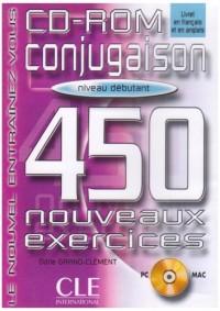 Conjugaison 450 exercices, débutant (CD-Rom PC et Mac inclus)