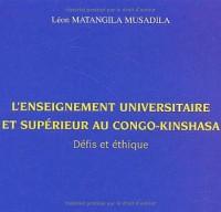 L'enseignement universitaire et supérieur au Congo-Kinshasa : Défis et éthique