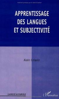 Apprentissage des langues et subjectivite