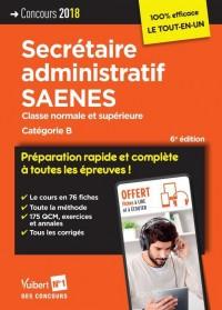 Concours Secretaire Administratif et Saenes - Categorie B