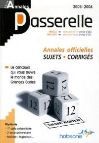 Annales Passerelle ESC Concours 2005 : Sujets et corrigés