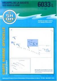 Carte marine : Archipel de la société : Îles sous le vent