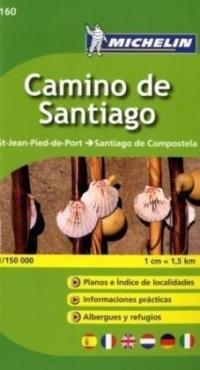 Camino de Santiago : St-Jean-Pied-de-Port - Santiago de Compostela 1/150 000