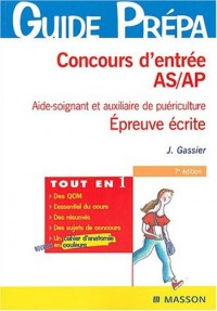 Concours d'entrée AS/AP : Aide-soignante et auxiliaire de puériculture