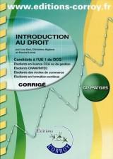 Introduction au droit : Candidats à l'UE1 du DCG : cas pratiques, corrigé