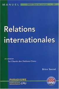 Relations internationales : DEUG Licence Droit