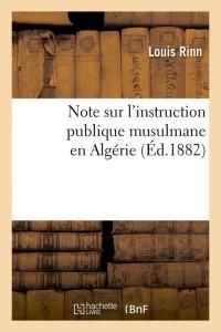 Note Sur l Instruction Musulmane  ed 1882