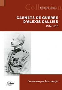 Carnets de guerre d'Alexis Calliès