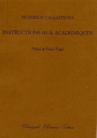 Instructions aux académiques
