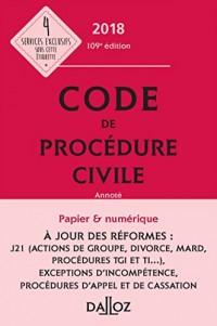 Code de procédure civile 2018, annoté - 109e éd.