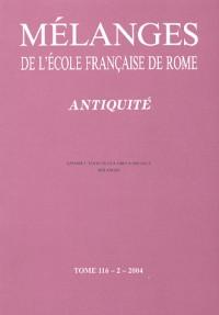 Mélanges de l'Ecole française de Rome 116/2 Antiquité. Anfore e testo in eta greca arcaica