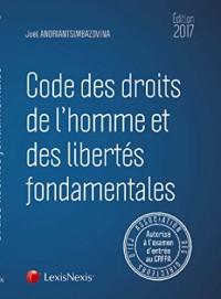 Code des droits de l'homme et des libertés fondamentales 2017