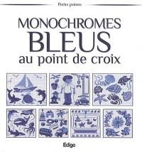 Monochromes bleus au point de croix