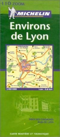 Carte routière : Environs de Lyon, N°11110