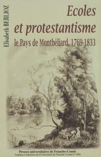 Ecoles et protestantisme : le Pays de Montbéliard, 1769-1833