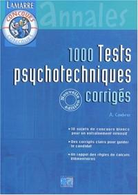 1000 Tests psychotechniques corrigés