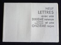 Neuf lettres avec une dixième retenue et une onzième reçue