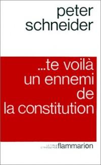 Te voilà un ennemi de la Constitution