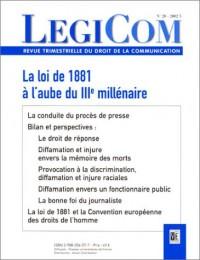 LEGICOM, numéro 28 : La loi de 1881 à l'aube du IIIe millénaire