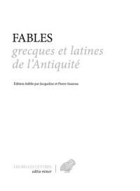 Fables grecques et latines de l'antiquité