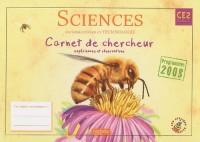 Sciences expérimentales et technologie CE2 : Carnet de chercheur, expériences et observations, programmes 2008