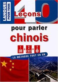 40 leçons pour parler chinois (1 livre + 3 cassettes + 2 CD)