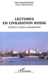 Lectures en civilisation russe : Histoire et culture contemporaine