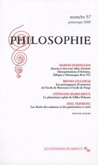 Philosophie, N° 97 :