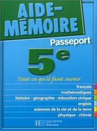 Aide-Mémoire Passeport : 5e -12-13 ans