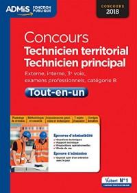 Concours Technicien territorial et technicien principal - Catégorie B - Tout-en-un - Concours 2018