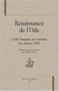 Renaissance de l'Ode : L'ode française au tournant des années 1550