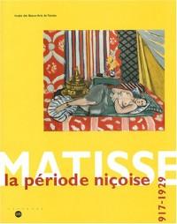 Matisse, la période niçoise, 1917-1929