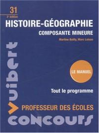 Histoire-Géographie composante mineure : Concours professeur des écoles