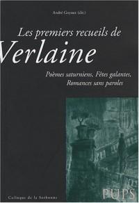 Les premiers recueils de Verlaine