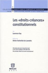 Les droits-créances constitutionnels