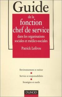 Guide de la fonction chef de service dans les organisations sociales et médico-sociales