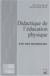 Didactique de l'education physique : Etat des recherches