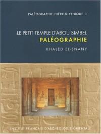 Le petit temple d'Abou Simbel : Paléographie