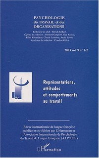 Psychologie du travail et des organisations, 2003 volume 9 n° 1-2