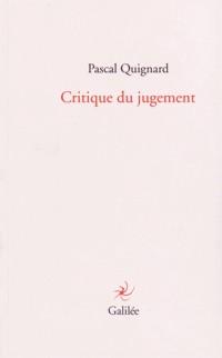 Critique du jugement