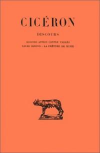 Discours, tome 3 : Livre II, 2e édition, tome 2e action contre C, tome Verrès, la préture de Sicile