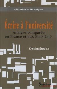 Ecrire à l'université : Analyse comparée en France et aux Etats-Unis