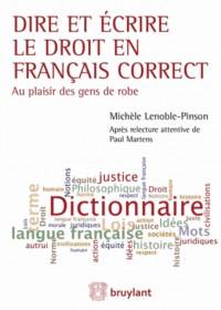 Dire et Ecrire en Français Correct