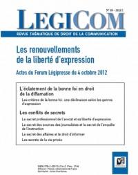 Légicom N°50. Les renouvellements de la liberté d'expression.