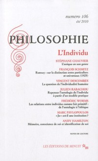 Philosophie, N° 106 : L'Individu