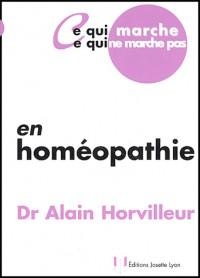 En homéopathie