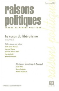 Raisons politiques, numéro 12, novembre 2003 : Le corps du libéralisme, volume 2