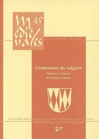 Médiévales n°45. Grammaire du vulgaire: normes et variations de la langue française