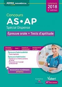 Concours As et Ap Special Dispense Epreuve Orale et Test d'Aptitude 5e Edt