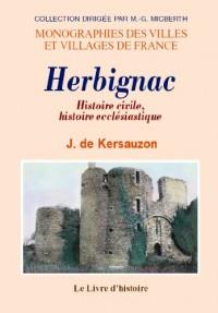 Herbignac. Histoire Civile, Histoire Ecclesiastique